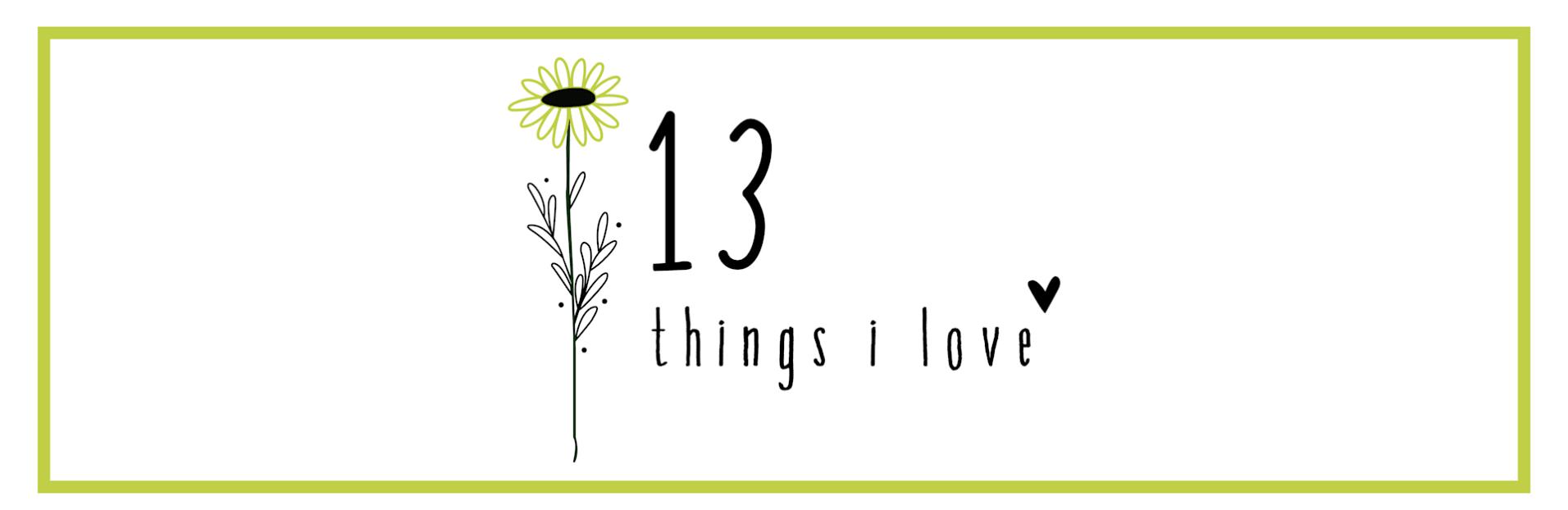 13 Things I Love