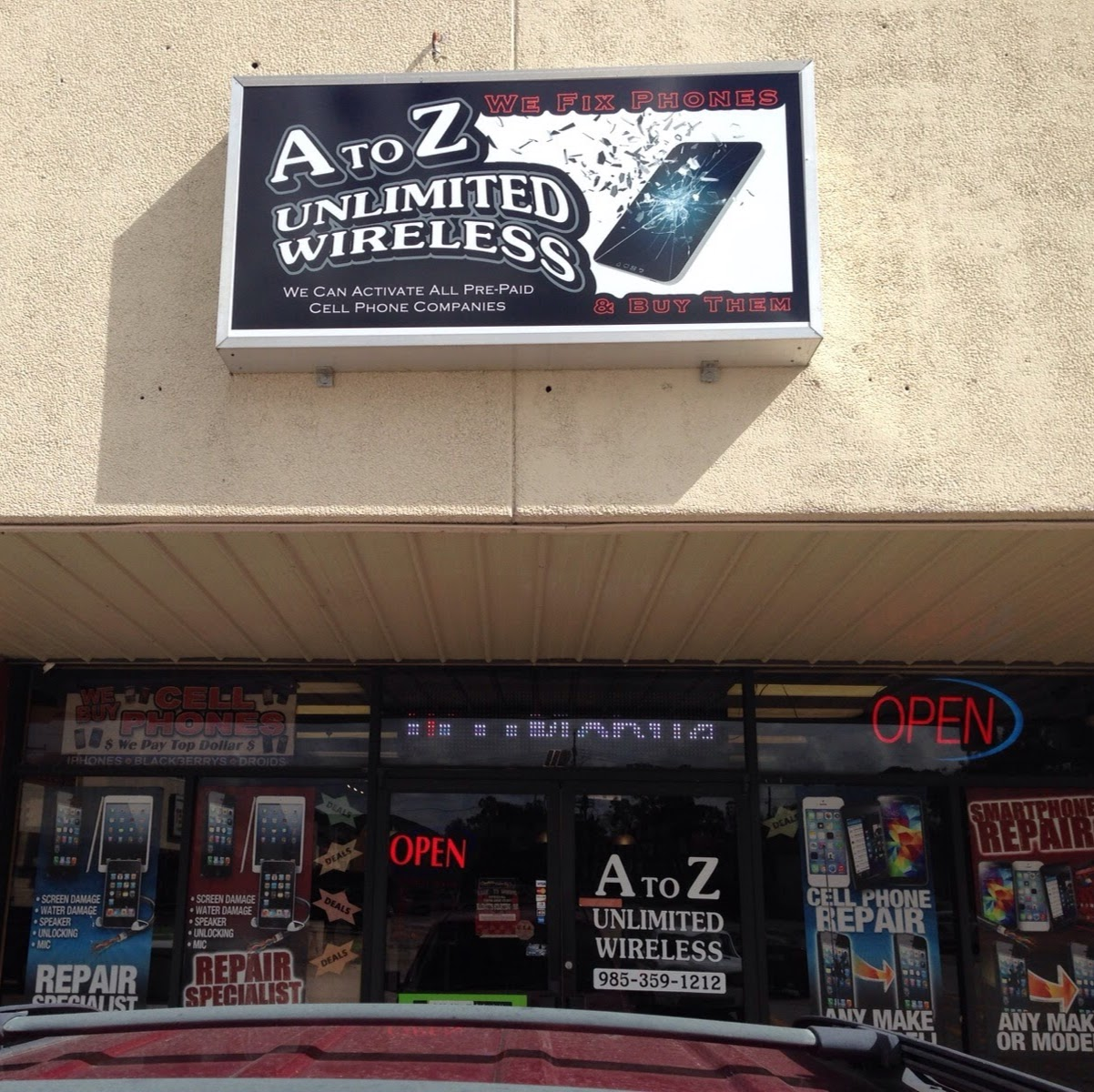 A To Z Unlimited Wireless Inc. Laplace Phone Repair / Screen Repairs