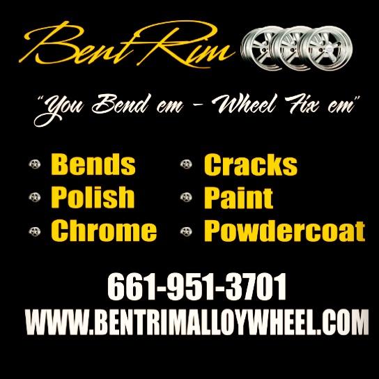 Bent rim alloy wheel repair