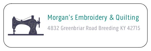 Morgan's Embroidery & Quilting Service