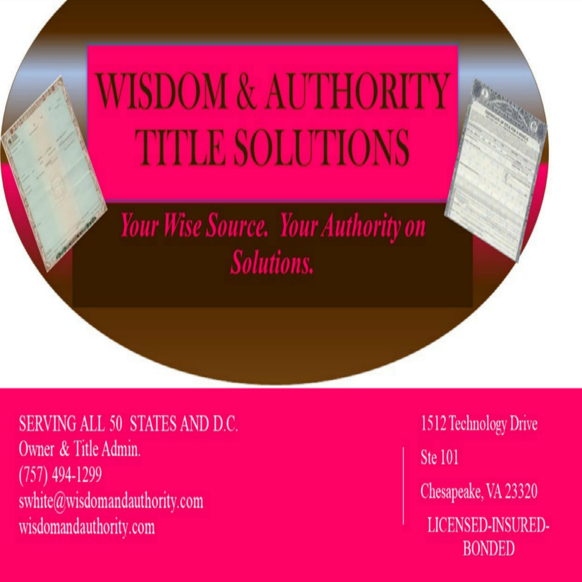 Wisdom & Authority Title Solutions LLC