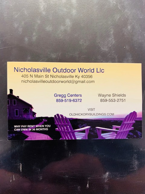 NICHOLASVILLE OUTDOOR WORLD LLC