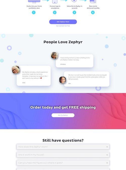 Zephyr Fresh Website Design and Development