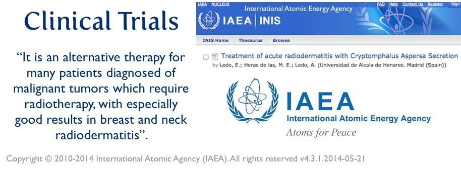 acute-radiodermatitis-treatment-clinical-trials snail helix aspersa secretions
