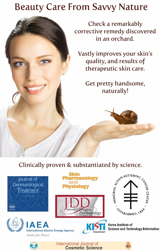 beauty care with natural snail secretions