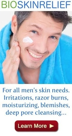 all-men-skin-needs-bioskinrelief ingrown hair irritations blemishes razor burns, moisturizer, deep pore cleansing