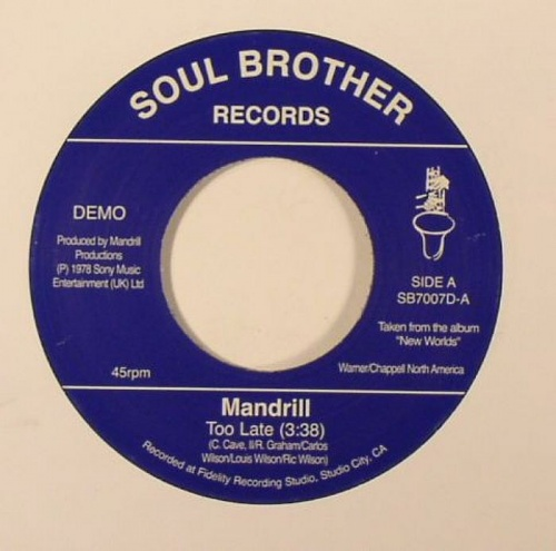 Mandrill Too Late Feeling Good 7 Quot New Vinyl Soul Brother