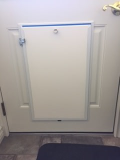 Newly Installed Hale Pet Door with Security cover in Place