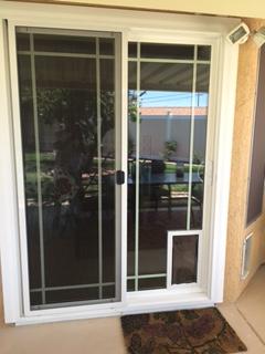 Hale Pet Door In Glass Installation