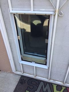 Security Door with an installed Hale Pet Door