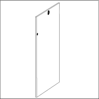 Hale Pet Door Security Cover Technical Drawing