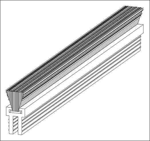 Hale Pet Door Weather Stripping Technical Drawing