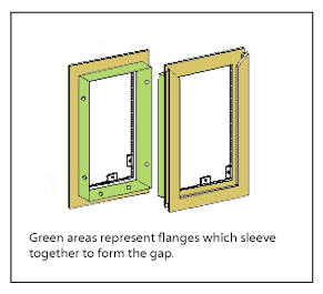 Hale Pet Door Gap Technical Drawing