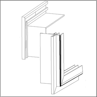 Hale Pet Door frame and flange technical drawing