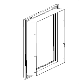 Hale Pet Door Outer Frame Technical Drawing