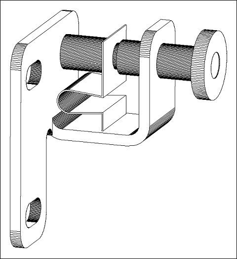 Hale Pet Door pin lock technical drawing