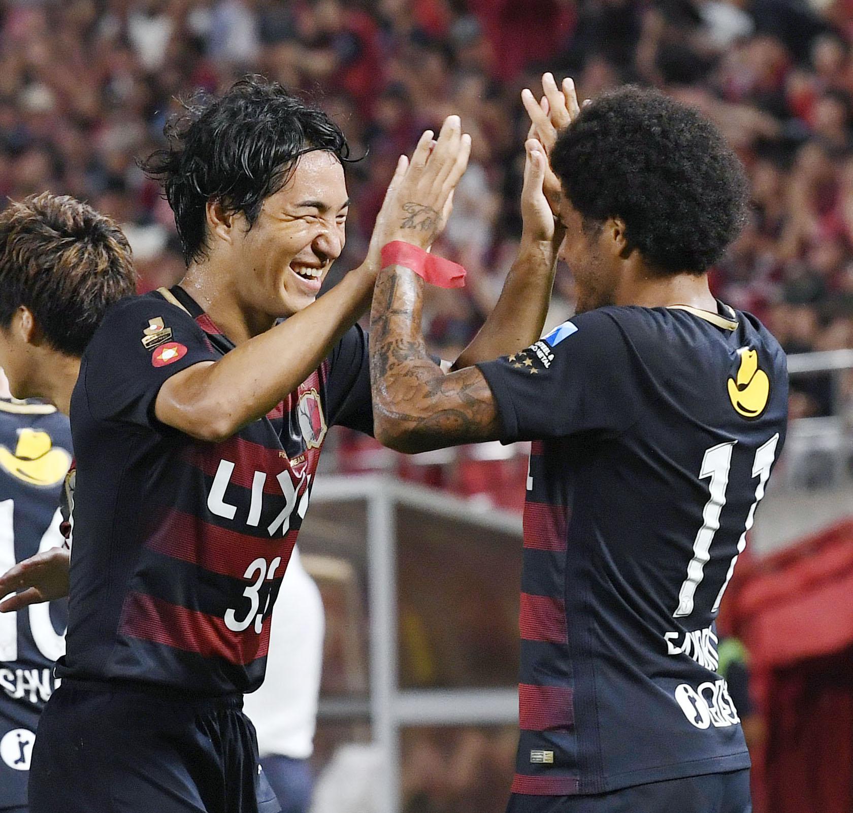 Soccer: Kashima pad out J-League lead with win vs Shimizu