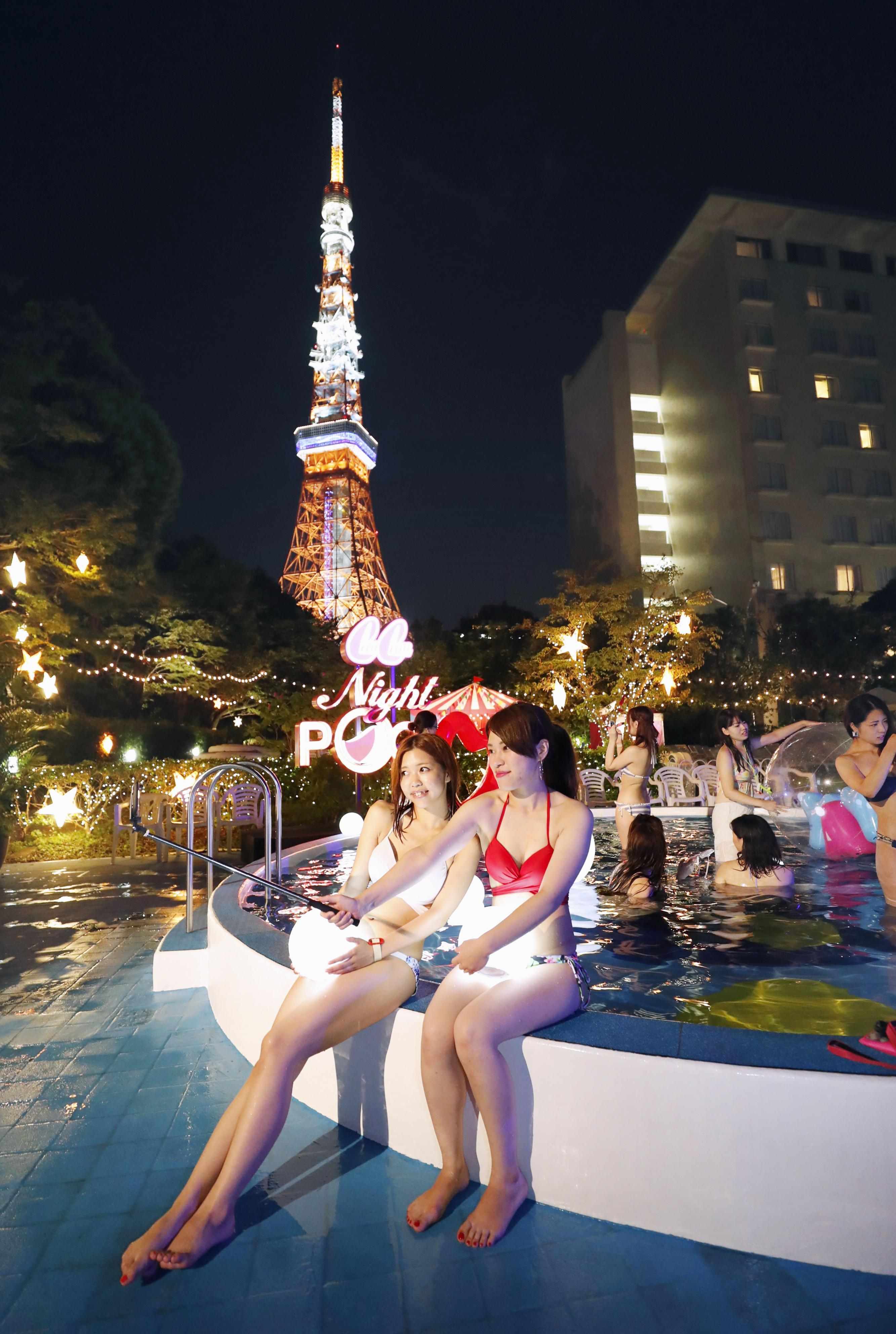"""Night pools"" all the rage among young women on social media"