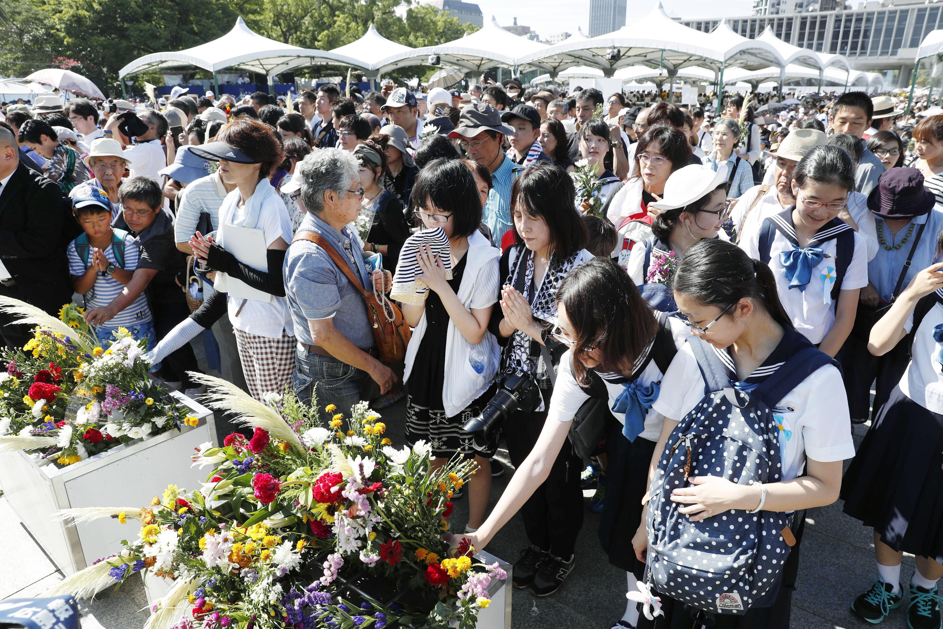 Hiroshima marks 72nd A-bomb anniversary with eyes on nuke ban treaty