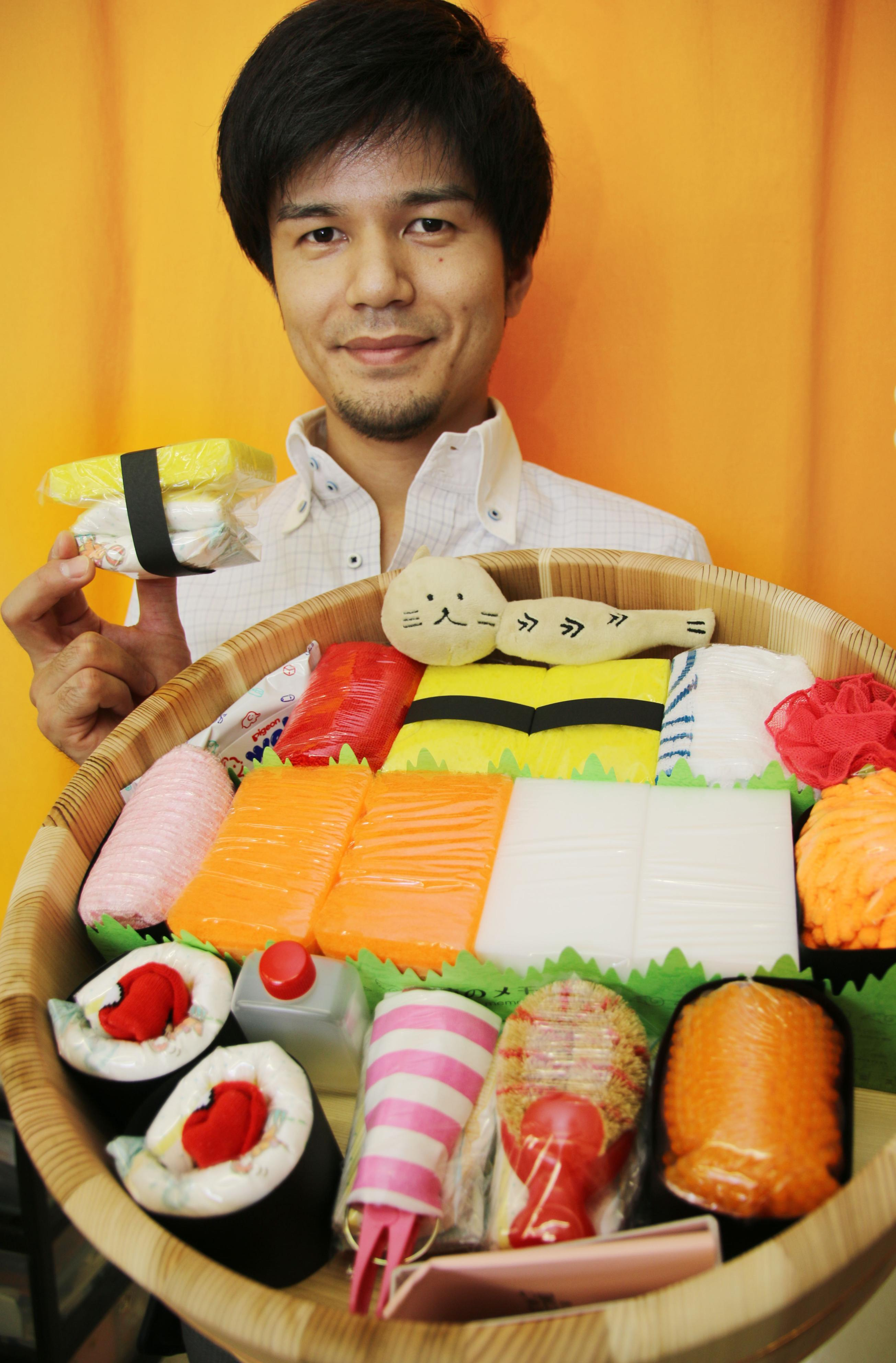 Sushi-resembling diapers prove popular as baby gift in Japan