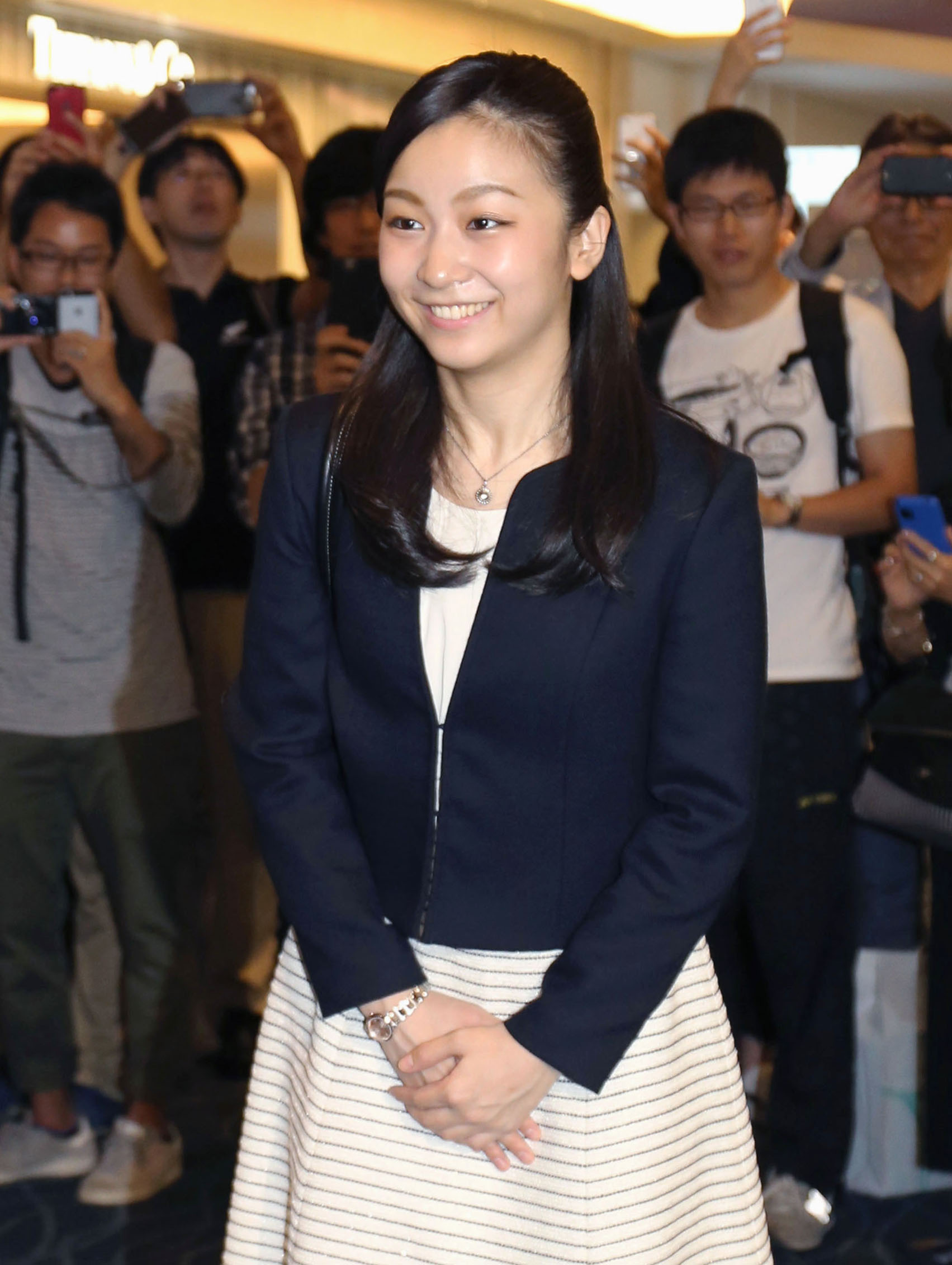 Princess Kako departs for studying at University of Leeds