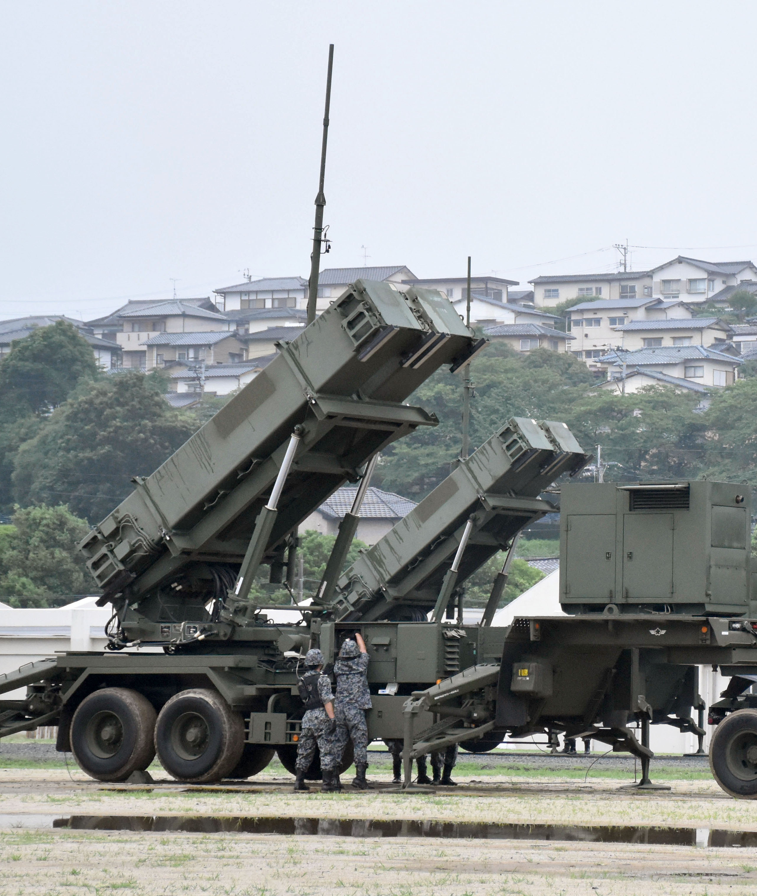 Japan's GSDF conducts drill on deploying PAC-3