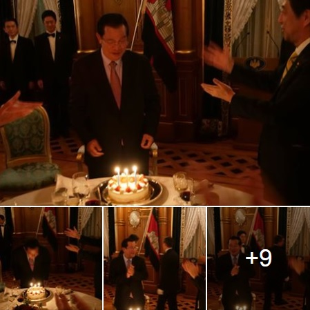 Abe celebrates Cambodian PM Hun Sen birthday