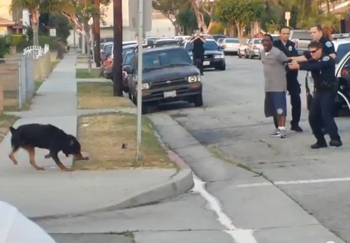 Leon Rosby's dog Max is shot and killed by Hawthorne California Police