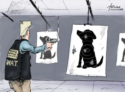 Rob Tornoe cartoon Prince George's County SWAT