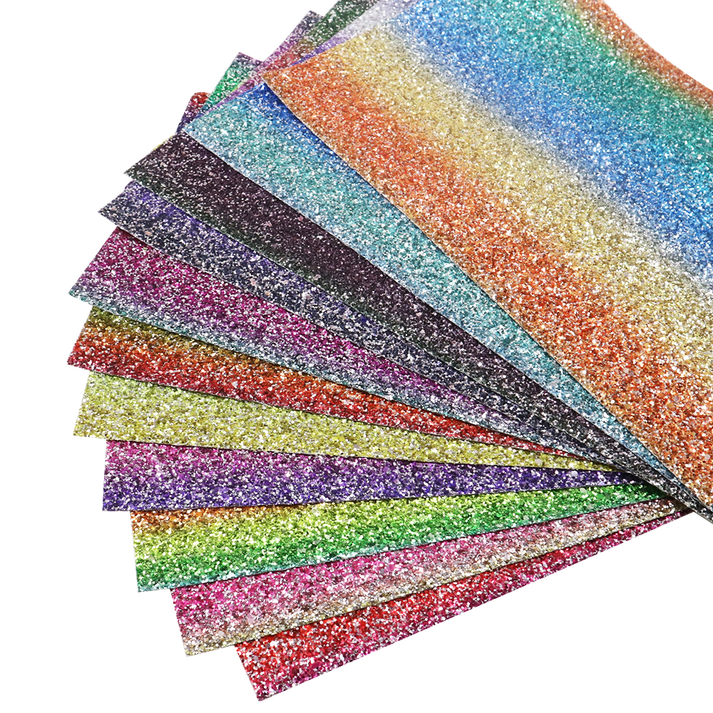 A4 Glitter Vinyl Leatherette Fabric Sheets DIY Handmade Bows Craft material