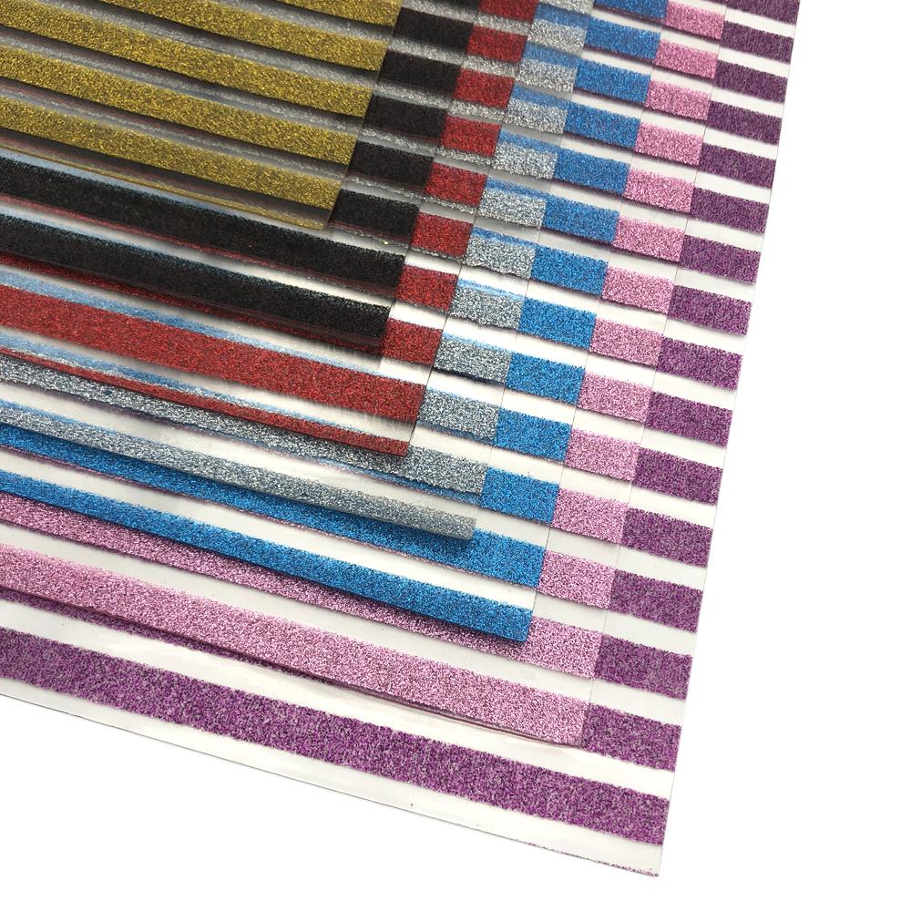 Glitter Strips Clear Transparent Vinyl Sheets DIY Craft Handmade Bow Decor