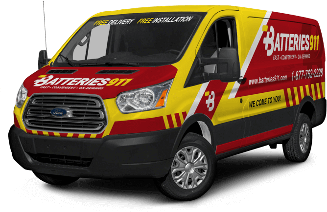Batteries 911 - Car Battery Delivery Service - Van