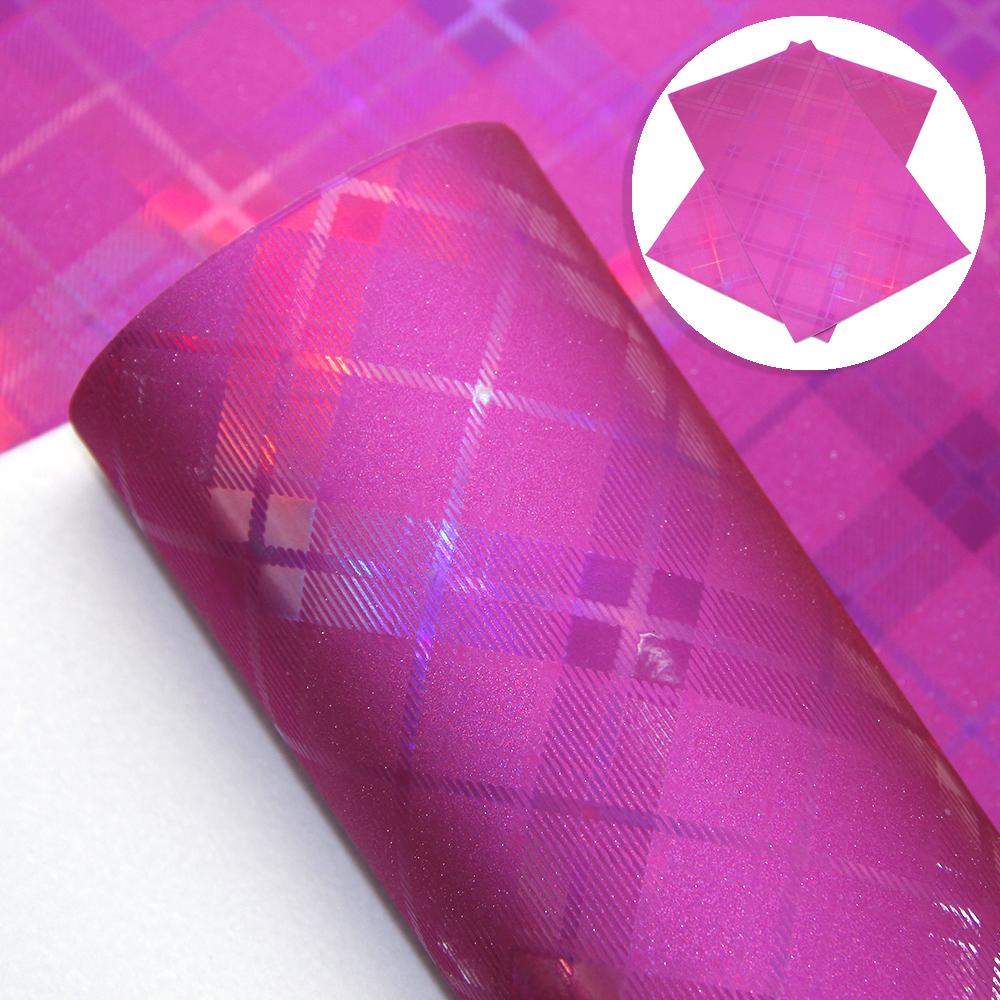 20-34cm-Plaid-iridescent-Fine-Glitter-Faux-Leather-For-DIY-Handmade-Crafts miniature 12