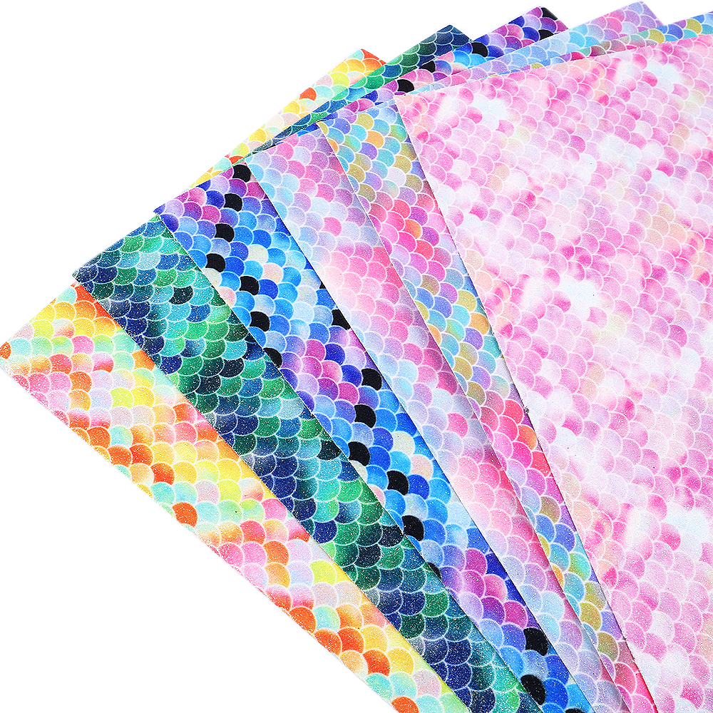 Geometric Leatherette Fabric Felt Backed A4 Sheets Glitter Hair Bows Vinyl