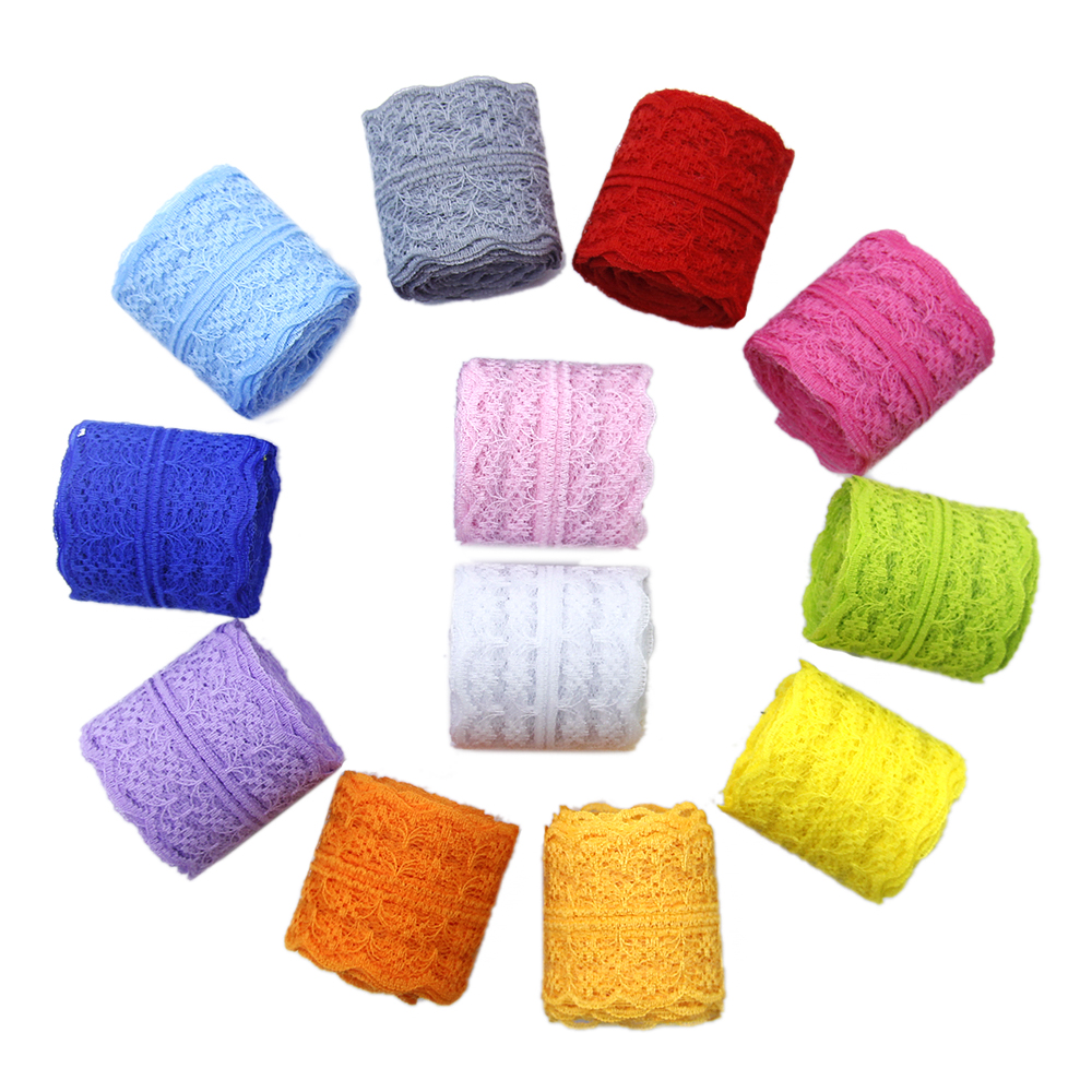 60yards/set 45mm Colorful Lace Ribbon For Gift Wrap DIY ...