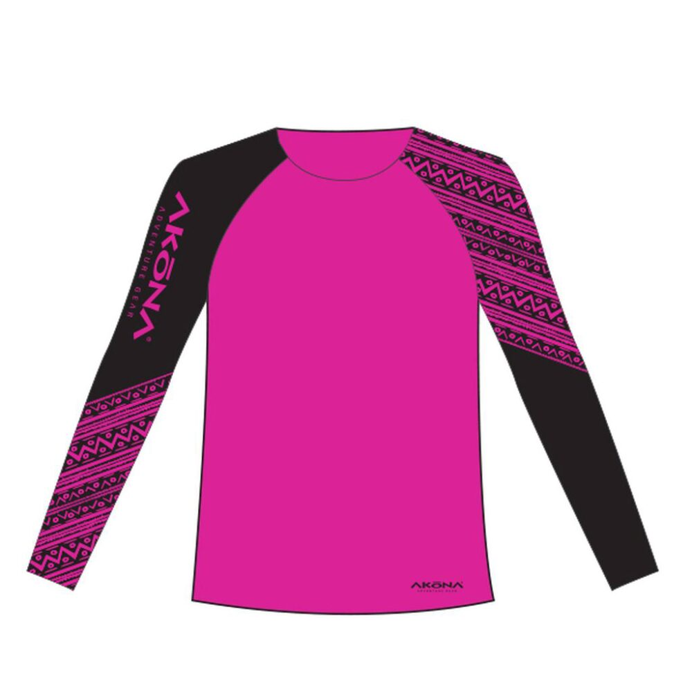 Akona Women's Magenta Rash Guard Small