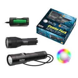 1300 Lumen Wide Beam LED Dive Light COMBO Pack