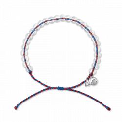 4ocean Seahorse Bracelet, Maroon/Navy