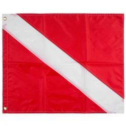 14 x 16 dive flag w/ stiff & gromm
