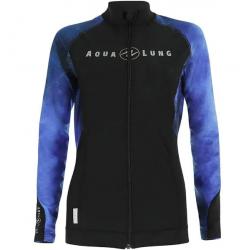 Aqualung Galaxy Blue Rashguard - Ladies Zipper Long Sleeve