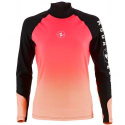Aqualung Rashguard - Ladies Long Sleeve Black/Pink