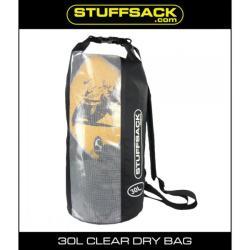 STUFFSACK EASY VIEW BAG 30L BLACK