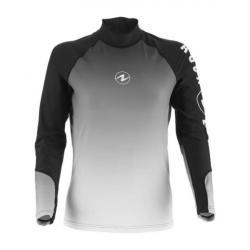 Aqualung Rashguard- Mens Long Sleeve Black/White