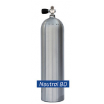 80 cf Cylinder Neutrally Buoyant - Brushued Alimunum
