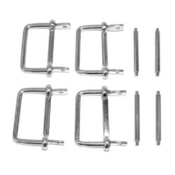Buckles & Pin Kit (Rubber Fins