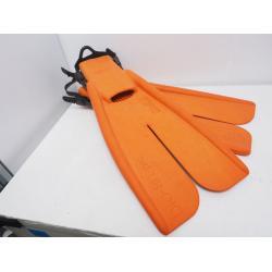 Bio-fin Pro Size LL w/Rubber Straps, Orange