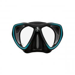Synergy Mini Mask w/ Comfort Strap -Turquoise/Silver - Black Skir