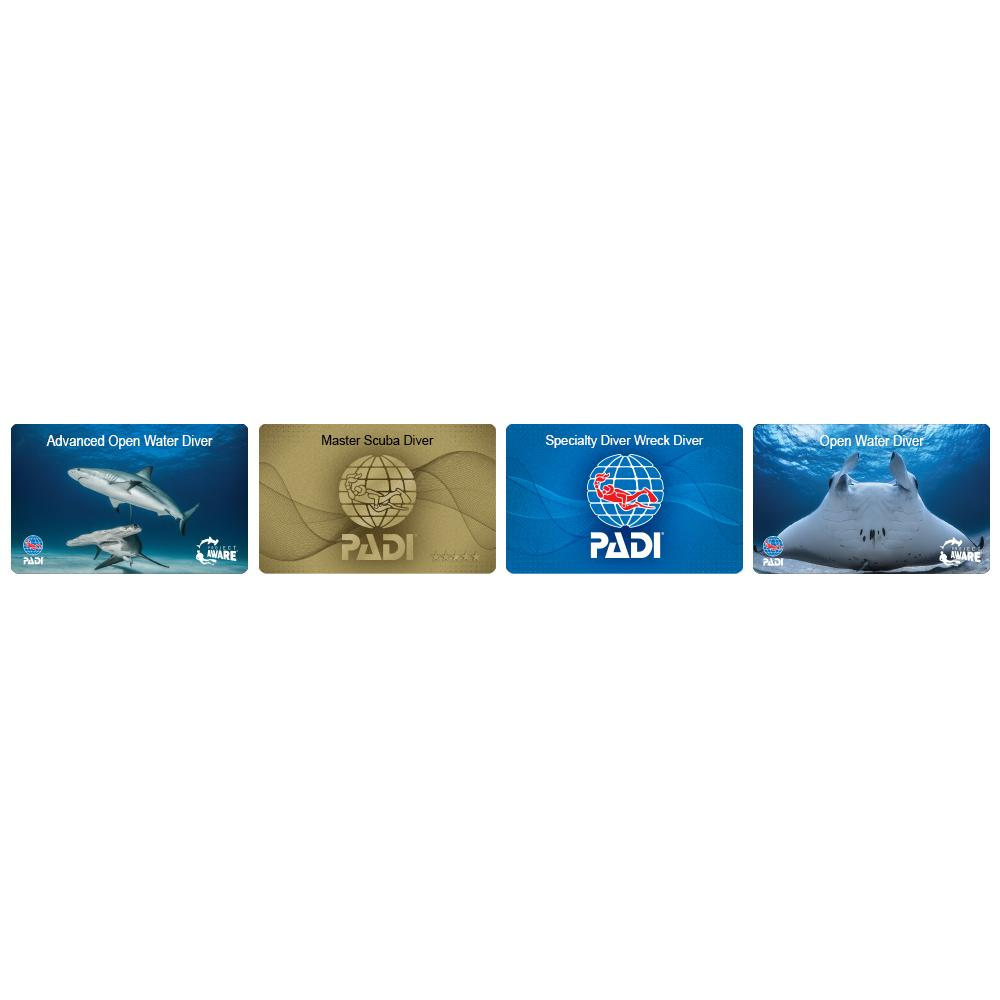 Diver Certification PIC Card