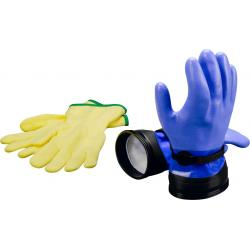Heavy Duty Blue Zip Gloves with Liners