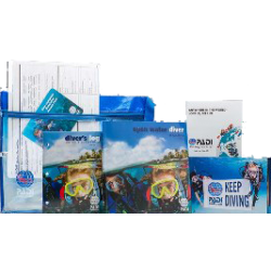OPEN WATER CREW PACK,  COMPUTER CARD, BLUE LOG, ENGLISH